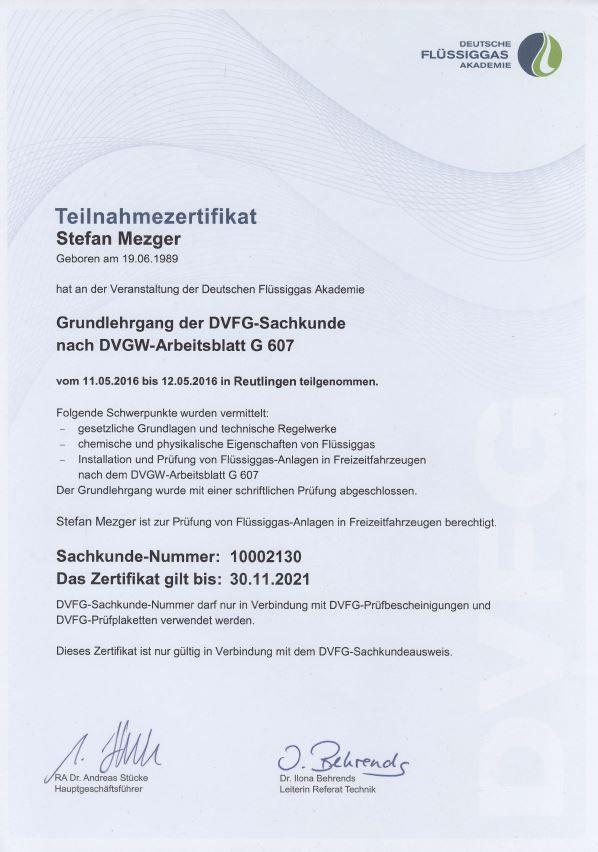 Zertifikat G607