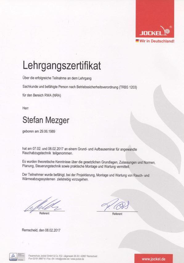 Zertifikat RWA
